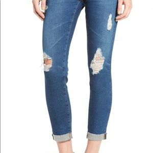 AG Jeans The Stilt Distressed Cigarette Roll Up
